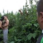 【ゲイ動画 pornhub】河川敷を散歩中に男同士が盛り合う現場に遭遇!相手に気づかれ、捕獲された挙句2人にアナルを掘られる…
