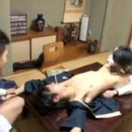 【ゲイ動画 pornhub】汚された割烹着!地方に出張中のホモサラリーマン2人が宿泊先の旅館でイケメン板前見習いを無理やりレイプ!