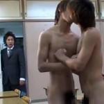 【ゲイ動画 pornhub】ここで問題!男子高校生同士のキスを目撃してしまったイケメン教師がこの後とった意外な教育方法とは?
