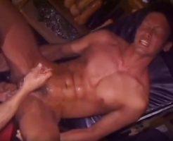【BL 動画 尿道攻め】初めての尿道責めに前立腺を刺激させられマッチョなスポメンが痙攣しながら絶頂