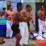 【twitter動画】ガチムチ筋肉がセクシーな柔道部員たちが上半身裸で練習w