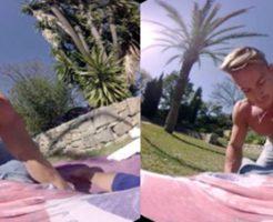 【VRゲイ動画】バカンスを満喫中のゲイカップル!彼に誘われ誰も居ない芝生の上で誘われ・・・【男尻祭】