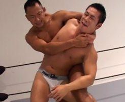 【ゲイビデオ】2時間越え!ノールールのガチムチ競パンレスリング、時間無制限1本ヌキ勝負でチンコカウント1,2,3、発射!