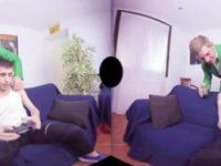 【VRゲイ動画】ゲームを楽しんでいたのに酔っぱらいの兄貴が部屋に乱入してきて邪魔するからスッキリさせて帰って貰ったw