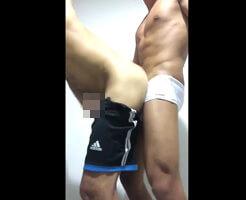 【Tumblr動画】体育会系素人ゲイカップルが立ちバックで雄交尾してるから見てみよう!